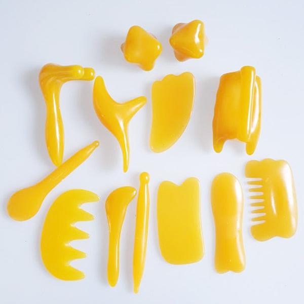 Masážní set GUA SHA 13 ks - Masážní výrobky