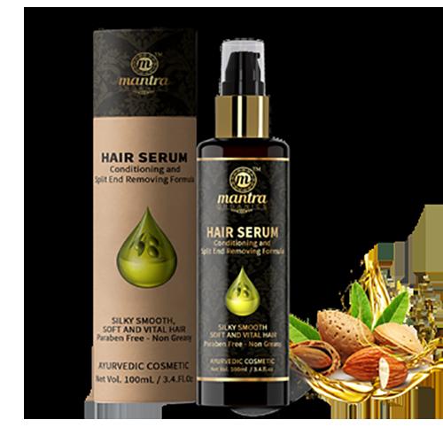 Vlasové sérum s mandlovým olejem  - AJURVÉDA - INDIE
