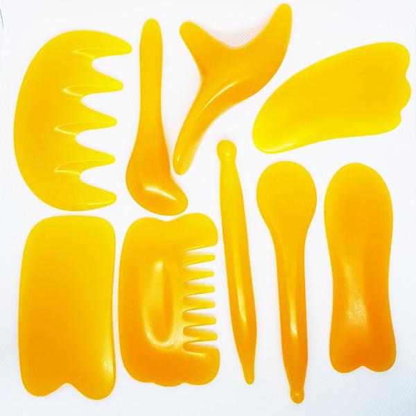 Masážní sada GUA SHA 9 ks - Masážní výrobky