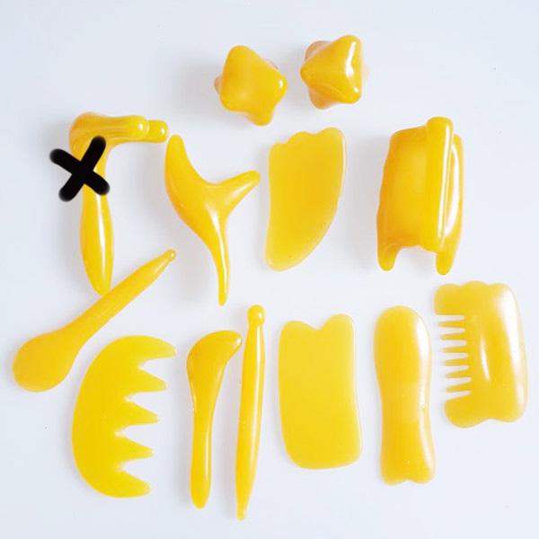 Masážní pomùcka GUA SHA 12 ks - Masážní výrobky