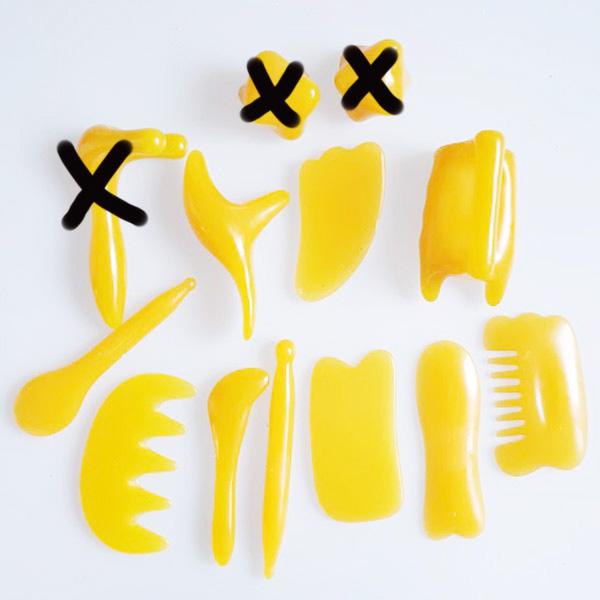Masážní sada GUA SHA 10 ks - Masážní výrobky