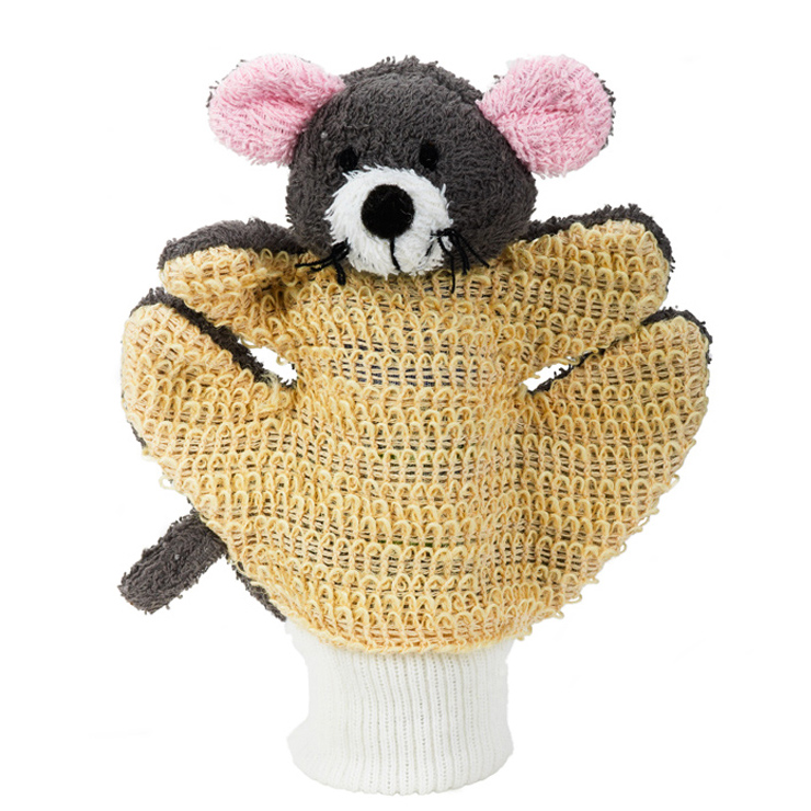 MYCÍ RUKAVICE-myška šedá - KOUPELOVÉ DOPLÒKY - zvìtšit obrázek