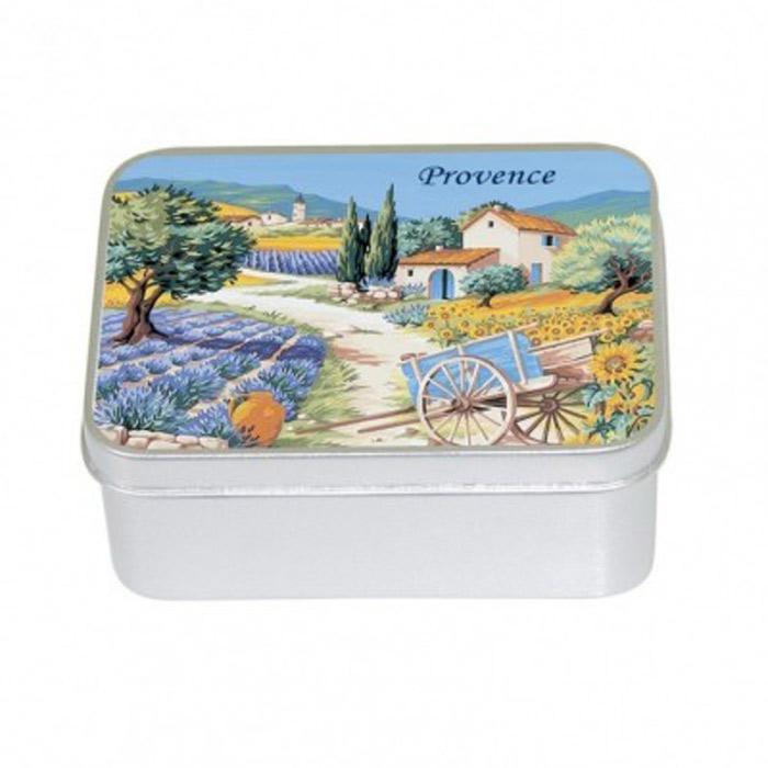 Toaletní mýdlo v kovové krabièce - levandule  - Mýdla a konfety - zvìtšit obrázek