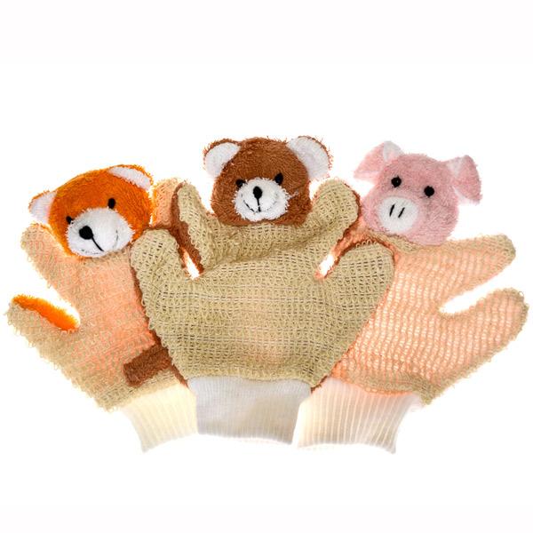 SADA 002 - rukavice 3 ks  - Sisal, Lufa, Ramie, Len - zvìtšit obrázek