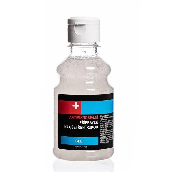 Antimikrobiální gel 200 ml - DEZINFEKCE,MASKY - zvìtšit obrázek