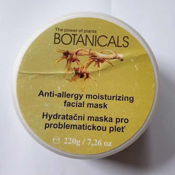 Botanicals - ple�ov� maska - po�kozena etiketa - SE SN͎ENOU CENOU  - zv�t�it obr�zek