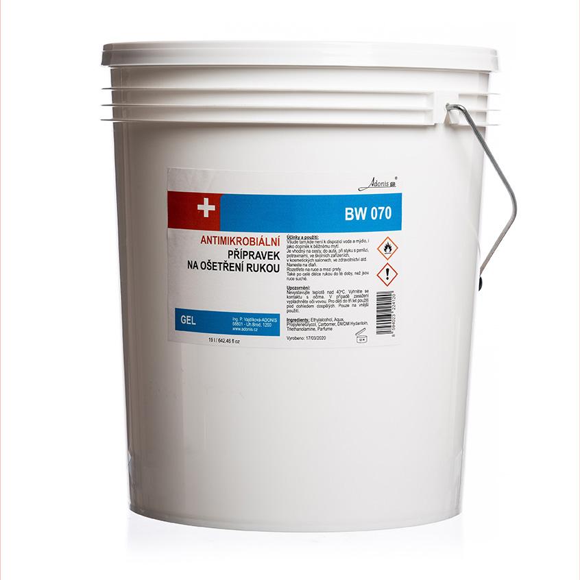 Antimikrobiální gel 19 l - DEZINFEKCE,MASKY - zvìtšit obrázek